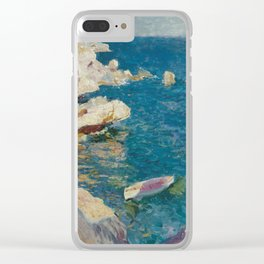Joaquin Sorolla y Bastida, Rocks of Javea, 1905 Clear iPhone Case