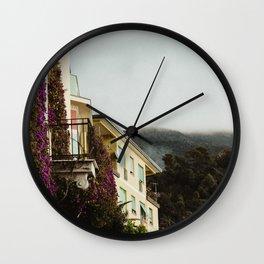 cinque terre morning Wall Clock