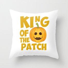 King of the Patch Pumpkin Halloween Graphic T-Shirt Throw Pillow