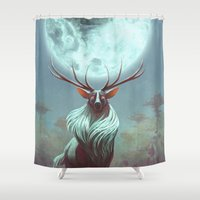 prince Shower Curtains featuring Night Prince by Artistic Oddities