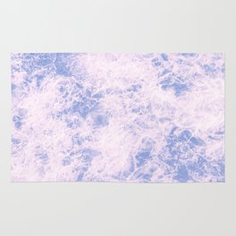 Pink and blue abstract pattern Rug