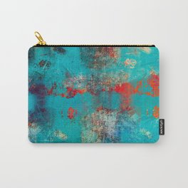 Aztec Turquoise Stone Abstract Texture Design Art Carry-All Pouch