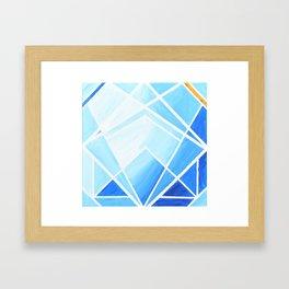 Blue - Colorful Geometric Framed Art Print