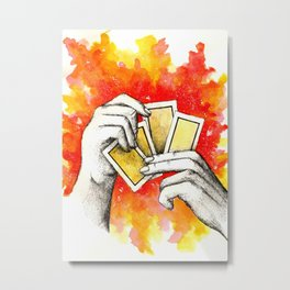 Inky hands24-Cards Metal Print