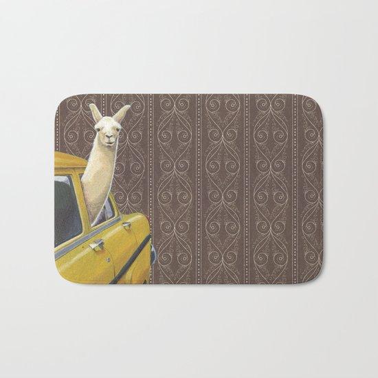 Taxi Llama Bath Mat