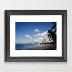 Waikiki Beach 2 Framed Art Print