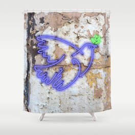 Peace Pigeon - The Copy is a Hommage Shower Curtain