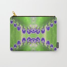 Green and Purple Abstract Carry-All Pouch