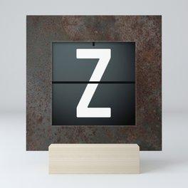monogram schedule z Mini Art Print