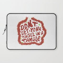 Don't get your tinsel in a tangle Laptop Sleeve