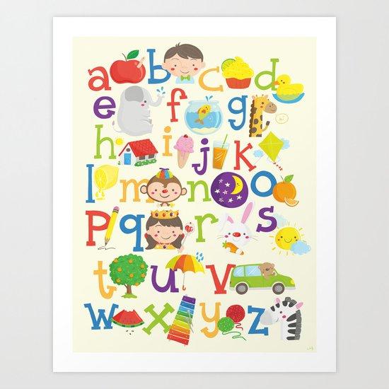 Wedgienet's Alphabet Art Print