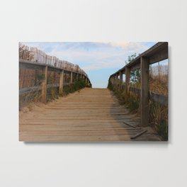 Ocean Footbridge Metal Print