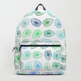 Blue + Green Tone Geodes Abstract Pattern Backpack