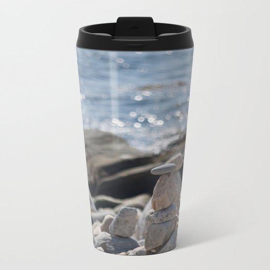 Balancing Serenity Rocks Metal Travel Mug