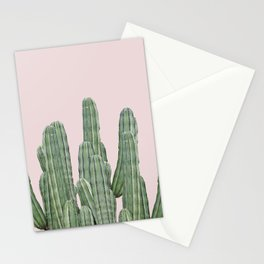 Cacti on Pink Stationery Cards
