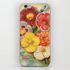 Vintage Floral Begonias iPhone & iPod Skin