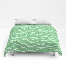 Sage Slanting Brush Strokes Comforters