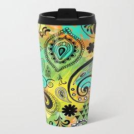 Crazy Paisley Metal Travel Mug