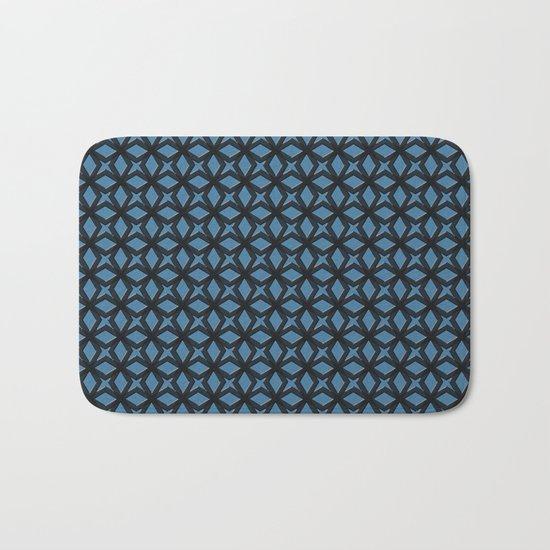 Blue Black Replay Bath Mat