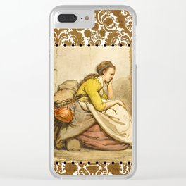 Traveling girl Clear iPhone Case
