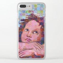 Sistine Cherub No. 2 Clear iPhone Case
