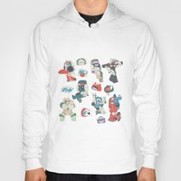 transformer Hoodies featuring Minibots by confinedclone
