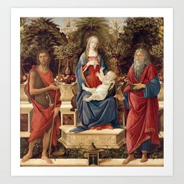 Madonna with Saints by Sandro Botticelli, 1485 Art Print