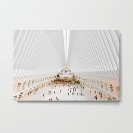 The Oculus at the World Trade Center | Calatrava #architecture #society6 Metal Print