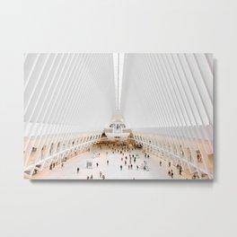 The Oculus at the World Trade Center   Calatrava #architecture #society6 Metal Print