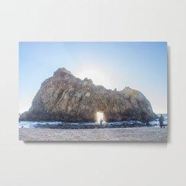Pfeiffer Beach Rock Metal Print