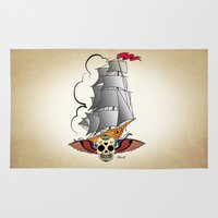 ship Area & Throw Rugs featuring ship by mark ashkenazi