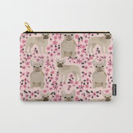 French Bulldog fawn coat cherry blossom florals dog pattern floral dog breeds Carry-All Pouch