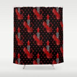 In Vogue - Fashion Illustration Shower Curtain