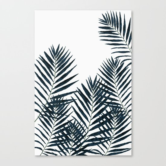 Fern Black Canvas Print