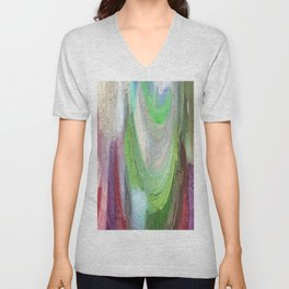 464 - Abstract Colour Design Unisex V-Neck