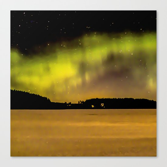 Northern Lights Fill The Sky Canvas Print