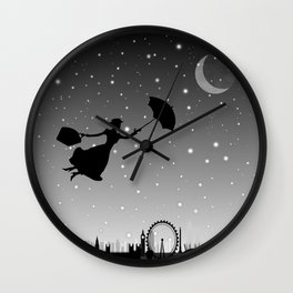 magical mary poppins Over London Wall Clock
