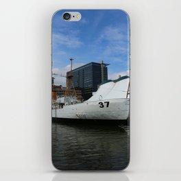 Coast Guard Cutter Taney Baltimore Harbor iPhone Skin