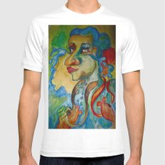 Tears of the Sea White Mens Fitted Tee MEDIUM