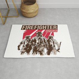 Firefighter Squad Rug
