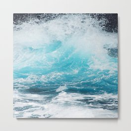 BLUE WAVES - 11318/3 Metal Print