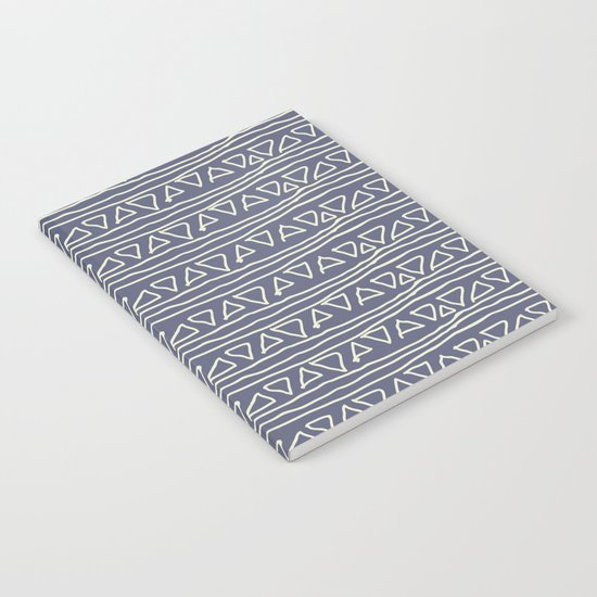 Blue Scribbles Pattern 03 Notebook