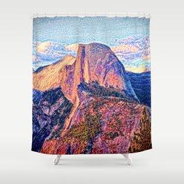 Half Dome Horizon Shower Curtain