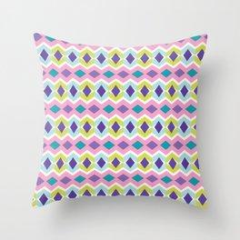 Chevron Diamond Pattern Bright Stripes Texture Throw Pillow