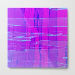 Spalted Purple - Abstract, textured painting Metal Print