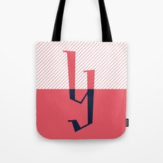 Y Drop Cap Design Tote Bag