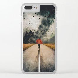 Against All Instinct Clear iPhone Case