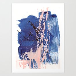 brush strokes 3 Art Print