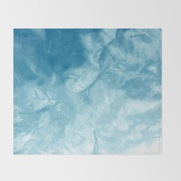 Reflection of Sky on Mirror-like Water Surface Throw Blanket