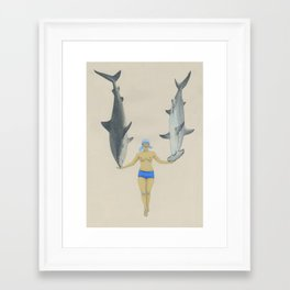 The Shark Charmer Framed Art Print
